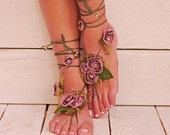 Barefoot Sandals, Barefoot sandles, Nude shoes, Foot jewelry, Yoga shoes, Footless sandals, Sexy accessories