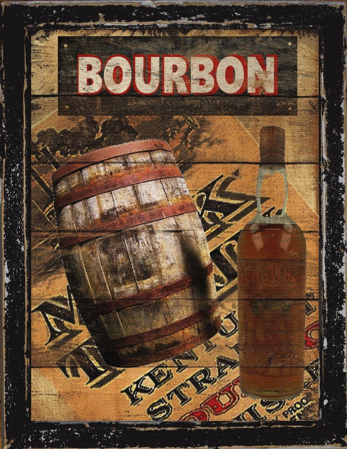 Country Man Cave Decor : Primitive french country home decor man cave bar bourbon