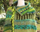 Dreamy Poncho (Knitting Pattern). Detailed pattern for knitting this gorgeous poncho. INSTANT DOWNLOAD