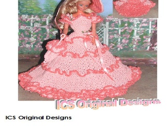 Crochet Fashion Doll Barbie  Pattern- #440 OLD SOUTH #2