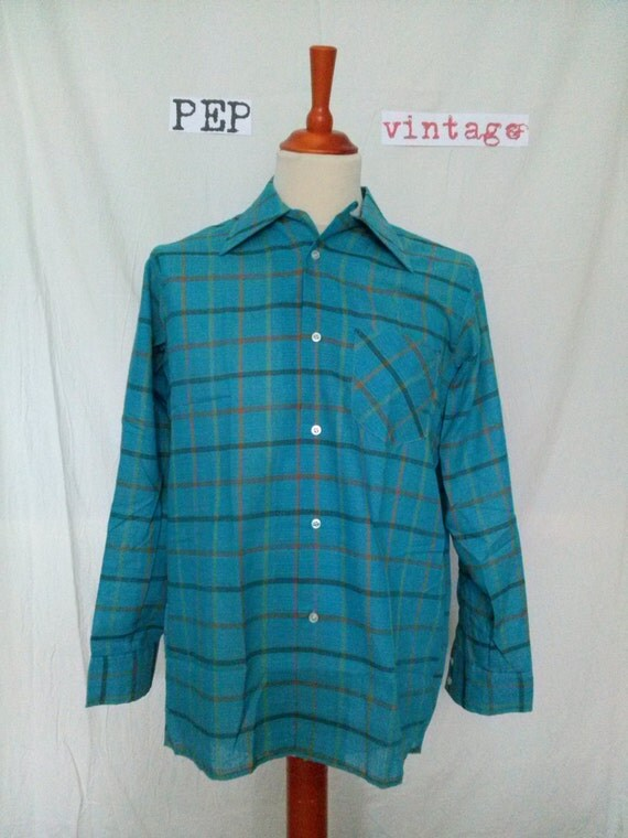 Vintage the bay hudson 39 s bay company loop collar shirt for Locker loop dress shirt