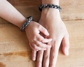 Mommy & Me Bracelets   Braided Leather   Silver Snake