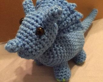 Easy Amigurumi Triceratops Pattern