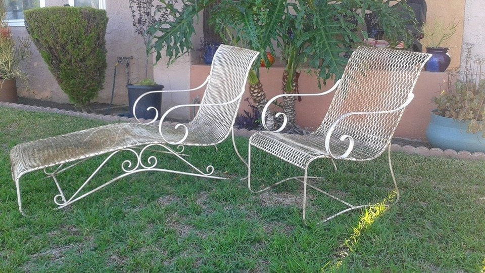 Amazoncom: wrought iron chaise lounge
