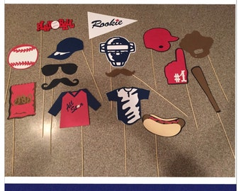 Baseball props,baseball party decor,baseball photo booth props/centerpieces sports photo booth props, photo booth props, sports party decor