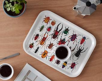 Scandinavian Birchwood Breakfast Tray: Bugs