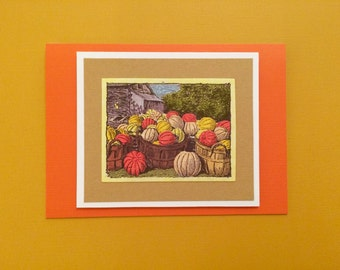 Halloween Fall Autumn Pumpkin Card