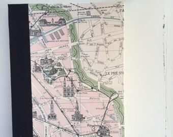 Vintage Paris Map Journal, Large, Blank
