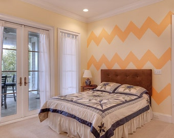 Wall Stencil Zig Zag Wall Art Stencil  in reusable Mylar, wall art, small to large stencils up to 19.5 x 27.5 inches.