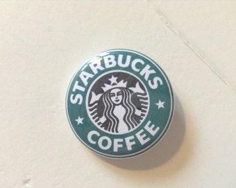 Starbucks Coffee Logo Pinback Button (31mm)