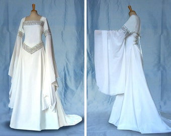 Wedding dress Elf dress of medieval DARIA