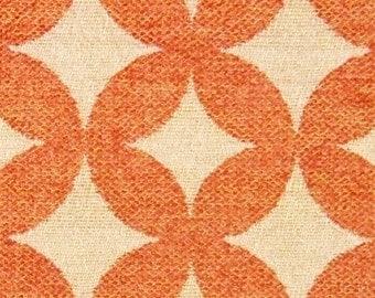 Tangerine Contemporary Diamond Chenille - Upholstery Fabric By The Yard - Modern Geometric Fabric