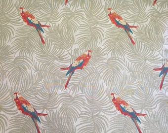 Tropical Upholstery Fabric - Polly Parrot-  Upholstery Fabric By The Yard