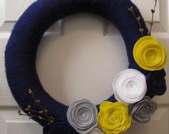 Posh Wrapped Yarn Wreath