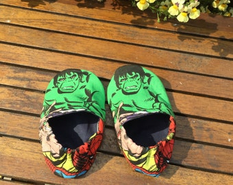 Avengers Slippers, Day care shoes, Preschool shoes, Slippers, Soft soled shoes, learning to walk shoes, toddler slippers