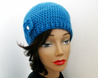 Urban Belle_An Innate Expressions' Beanie for Women in Ocean - READY TO SHIP