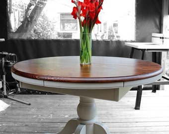 Painted/Refinished/Upcycled Extending Dining Table