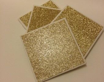Gold Sparkle Coaster