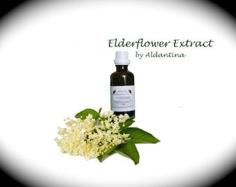 Organic Elderflower Herbal Tincture/Extract - alcohol free - >50ml<