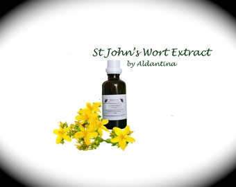 Organic St John's Wort Herbal Tincture/Extract - alcohol free - >50ml<