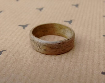 Bent Wood Ring - American Walnut - Light - Any Size Made to Order.