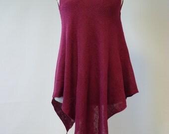 Beautiful amazing cyclamen linen tunic, M size. Only one sample.