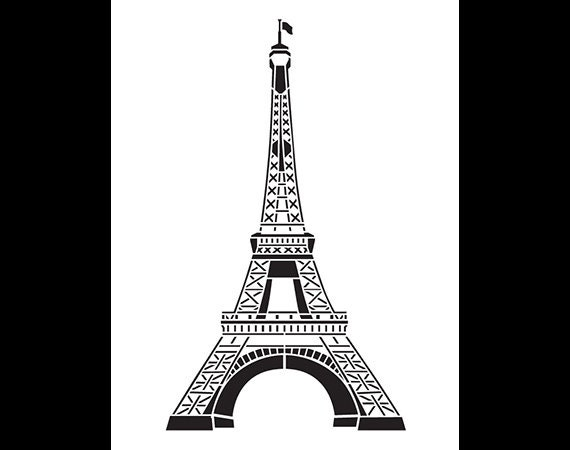 Eiffel Tower Art Stencil by StudioR12 Select Size by StudioR12
