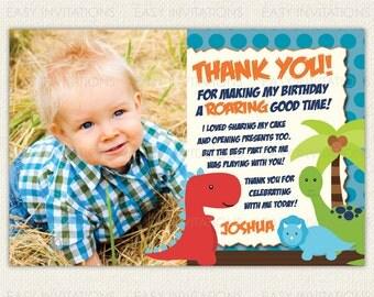 Dinosaur Thank You Card Printable Digital Card BD01