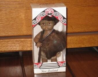 New Zealand Souvenir Warrior Doll in Original Box by PARRS