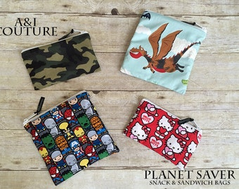 Planet Saver Reusable Snack & Sandwich Bag Sewing Pattern
