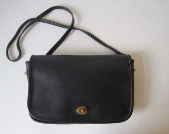 COACH Handbag Purse Shoulder Bag 091 - 9421 Women's Leather Black Vintage Bag353