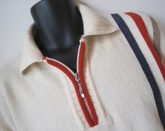 MANCIA Sweater Size: L Men's Pure New Wool Italian Desingned Kintwear Vintage