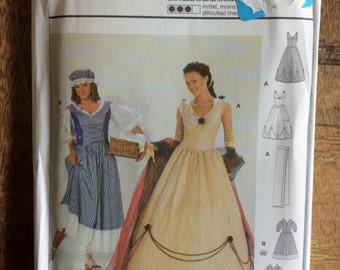 Burda costume pattern Empress and Washerwoman Sizes 10 to 20