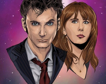 Dr Who 10th Doctor Print