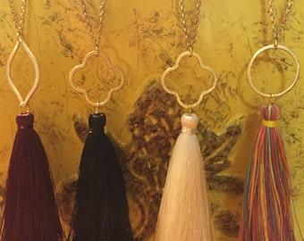 Long tassel necklaces
