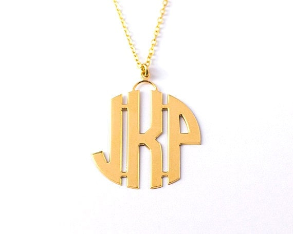 1 5 inch personalized 3 letter pendant by monogramnecklacevip