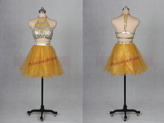 Yellow Tulle Prom Dresses 75
