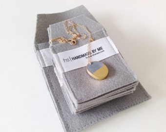 Amorphous with gold leaf, pendant necklace, Gold Leaf & Concrete Pendent, Contamporary Gold, Grey And Gold Necklace