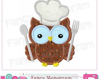 Chelf's hat,Owl,Chelf's hat applique,Owl applique,Chelf's hat with Owl,Birthday applique.