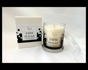 Extra Large Danube Hand Poured Soy Scented Candle - PINK SUGAR