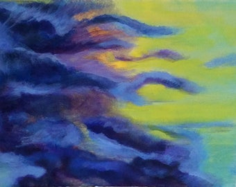 Abstract Acrylic Painting, Skyscape