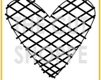 The I Heart Plaid cut file is a large design that can be resized for your needs, on your scrapbooking and papercrafting projects.