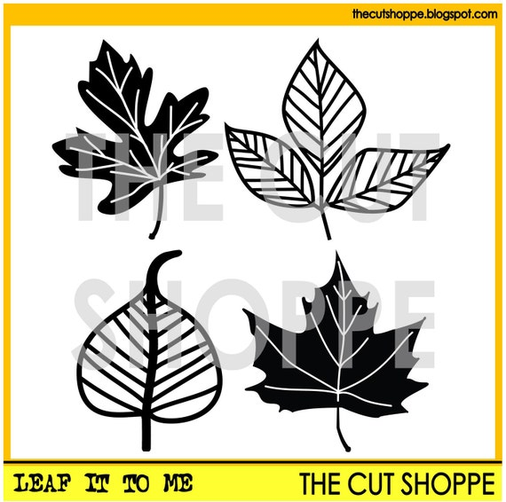 The Leaf It to Me cut file consists of four leaf images, that can be used on your scrapbooking and papercrafting projects.