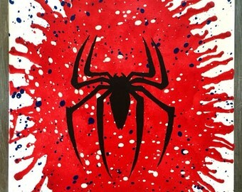 Spiderman Melted Crayon Art