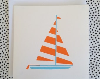 Sail Away - Screenprint Card with Envelope