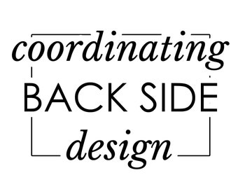 Coordinating Back Side for any invitation