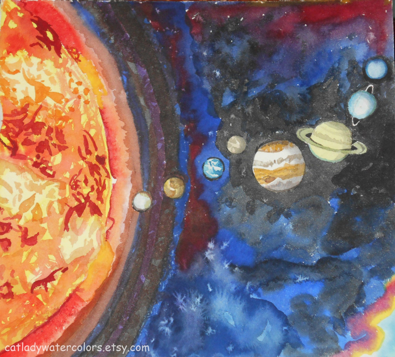 universe solar system paintings art - HD1500×1356