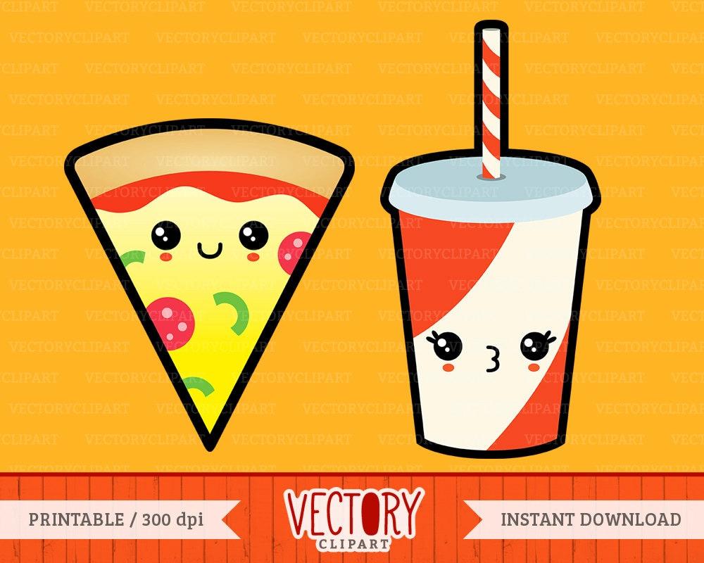 12 kawaii fast food  cute food set  kawaii junk food  food italy clipart vector italy clipart vector