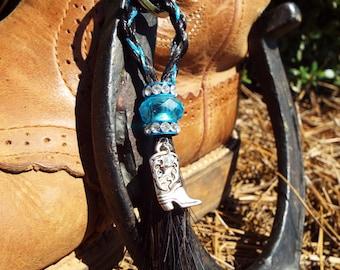 "Horse Hair Keychain - ""Julana"" Design"