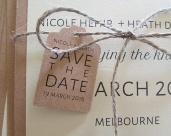 "Rustic Wedding Save the Date | Layered 5"" x 7"" Card & Envelope 